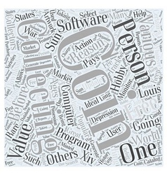 BWCC free coin collecting software Word Cloud vector image