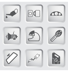Car part and service icons set 4 vector