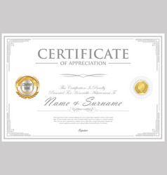 Certificate retro design template 10 vector