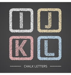 Chalk letters set vector image