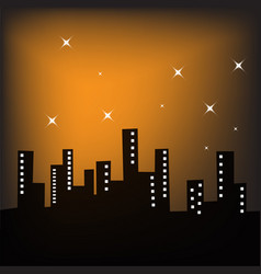 city lanscape at night vector image