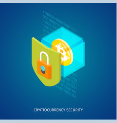 Cryptocurrency security concept vector