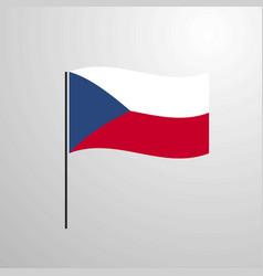 Czech republic waving flag vector