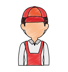Delivery worker avatar character vector