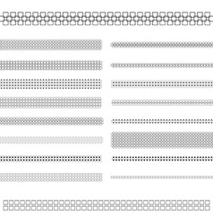 Design elements - text divider line set vector