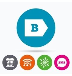 Energy efficiency class b energy consumption vector
