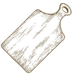 Engraving of cutting board vector