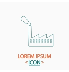 Factory computer symbol vector