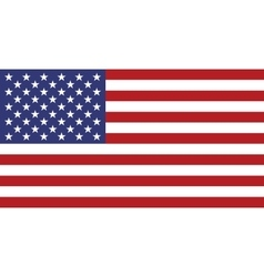 flag usa in correct proportion and colors vector image