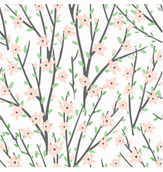 floral pattern with flowers and branches vector image