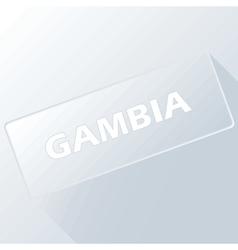 Gambia unique button vector