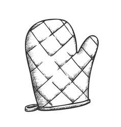 Glove kitchenware accessory monochrome vector