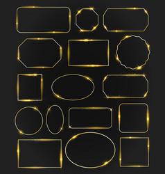 golden glow frames set vector image