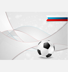 grey football wavy background with soccer ball vector image