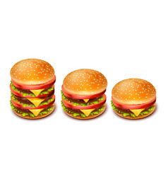 hamburger 03 vector image