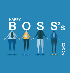 happy bosss day background with employee isolated vector image