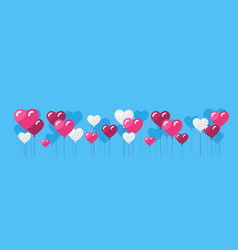 heart shape air balloons valentines day background vector image