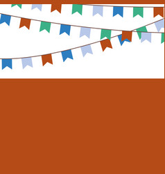 Holiday background with blue orange green flags vector