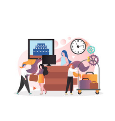 Hotel service concept for web banner vector