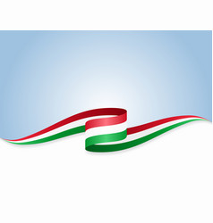 Hungarian flag wavy abstract background vector