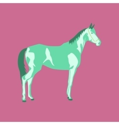In flat style horse vector