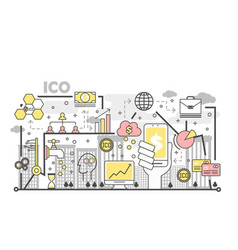 initial coin offering concept vector image