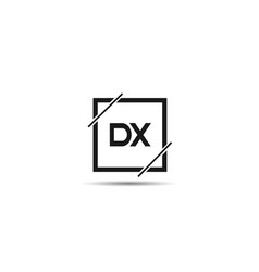 initial letter dx logo template design vector image