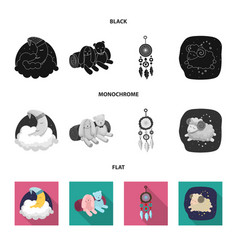 Isolated object of dreams and night icon vector