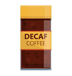 Jar decaf coffee icon cartoon style vector