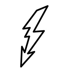 Lightning discharge icon outline style vector