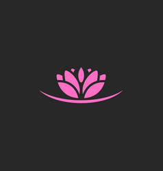 lotus flower beauty nature logo vector image