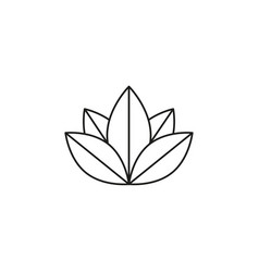 lotus meditation icon vector image