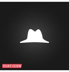 Mens hat icon vector