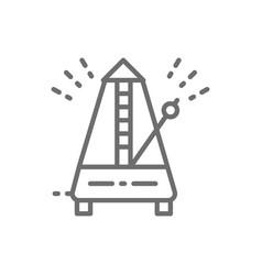 Metronome rhythm line icon vector