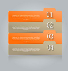Modern infographics colorful design vector
