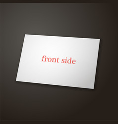 one side business card template black background vector image