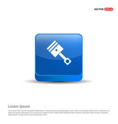 Paint brus icon - 3d blue button vector