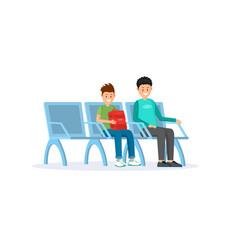 passengers in airport terminal flat vector image