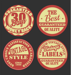 pastel color vintage badges collection 2 vector image