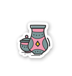 Pottery hobby sticker vector