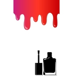 rainbow stains nail polish vector image
