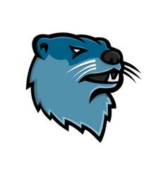 River otter head mascot vector