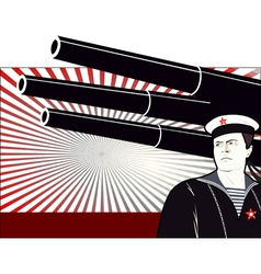 russian sailor vector image
