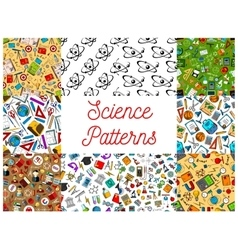 Science seamless patterns vector
