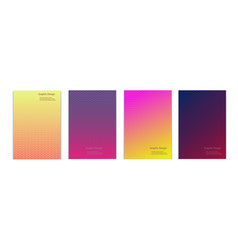 set different cover designs with gradient color vector image