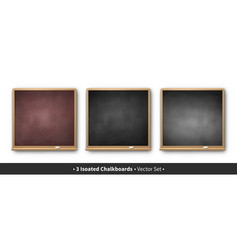 set of square chalkboards vector image