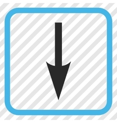 Sharp arrow down icon in a frame vector