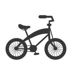 single bike icon vector image