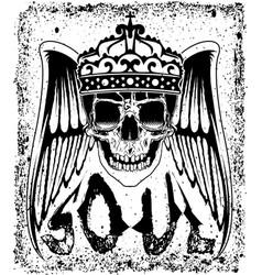Skull tee graphic design vector