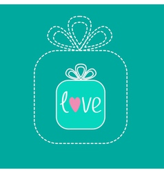 Small gift box in the big gift box dash line flat vector